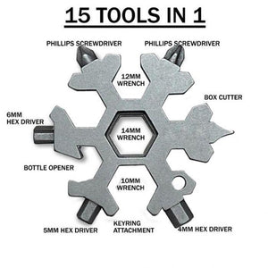 15 In 1 Snowflakes Multi-tool