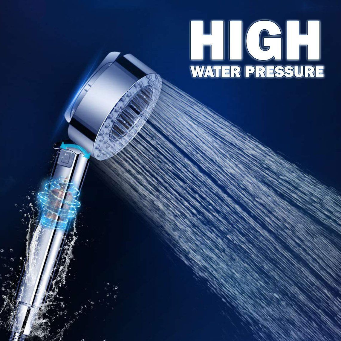 2020 Double Sided Pressurized Shower Head