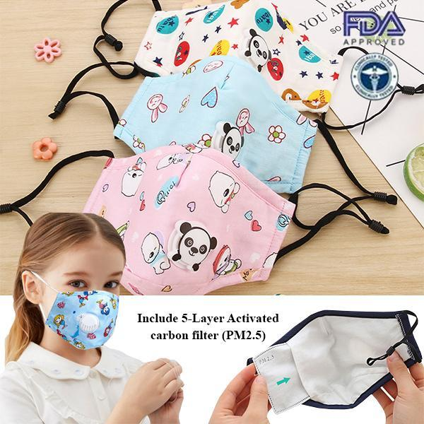 5-Layer Kids Reusable PM2.5 Filter Protector (FREE 2x FILTERS)