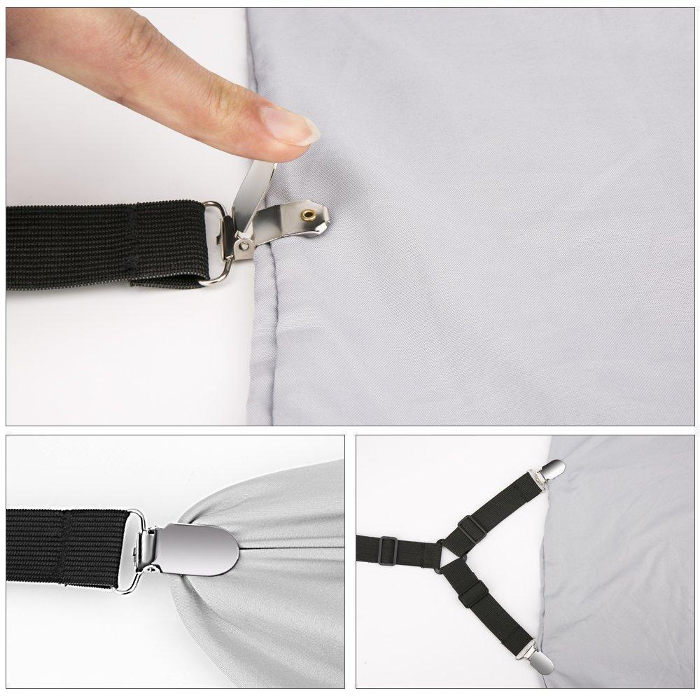 Adjustable Bed Sheets Clips (4Pcs/Set)