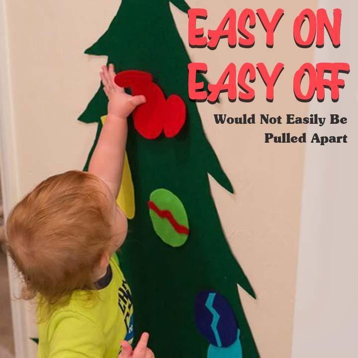DIY Felt Christmas Ornament Tree