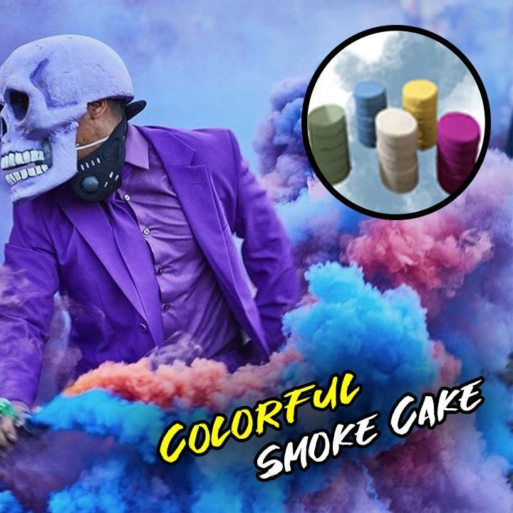 Halloween Colorful Smoke Cake