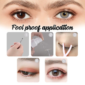 Invisible Eyelid Lifting Fiber Net