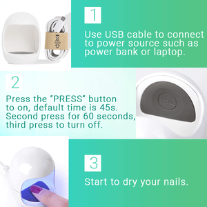 Mini USB UV Nail Curing Lamp
