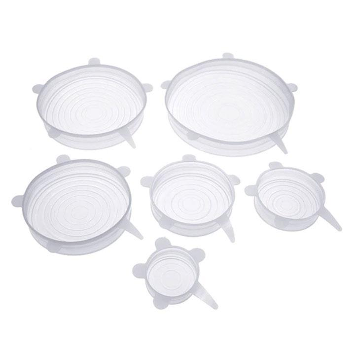 Stretch & Fit - Reusable Silicone Stretch Lids (6pcs)