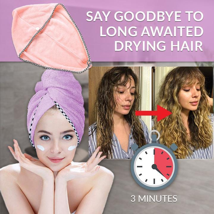 Woman - Magic Instant Dry Hair Towel