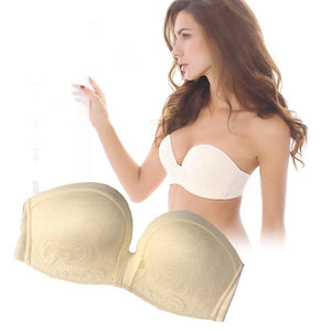 Woman - Strapless Non-slip Push-up Bra