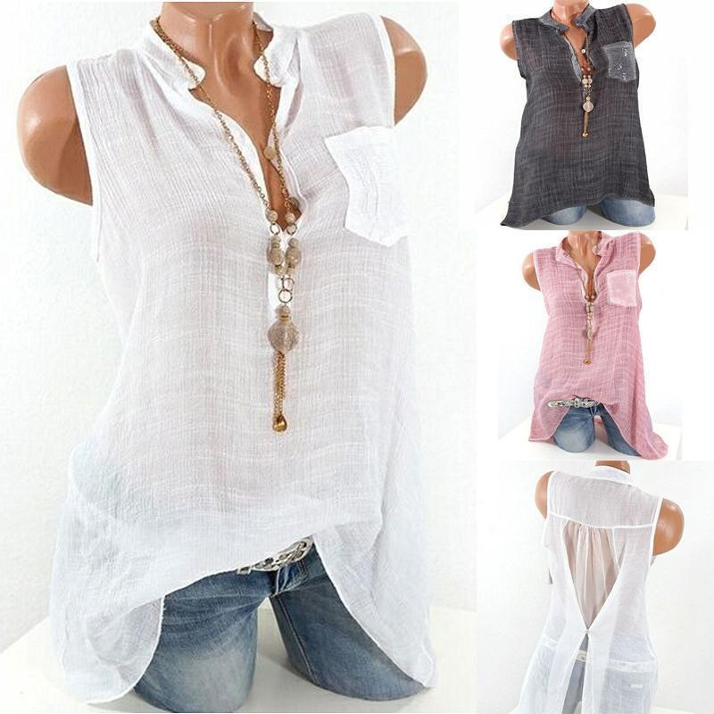 Women's Sleeveless Chiffon Tank Tops
