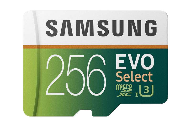 Samsung  (MB-ME256GA/AM) 256GB 100MB/s (U3) MicroSDXC EVO Select Memory Card with Full-Size Adapter - Coeexus