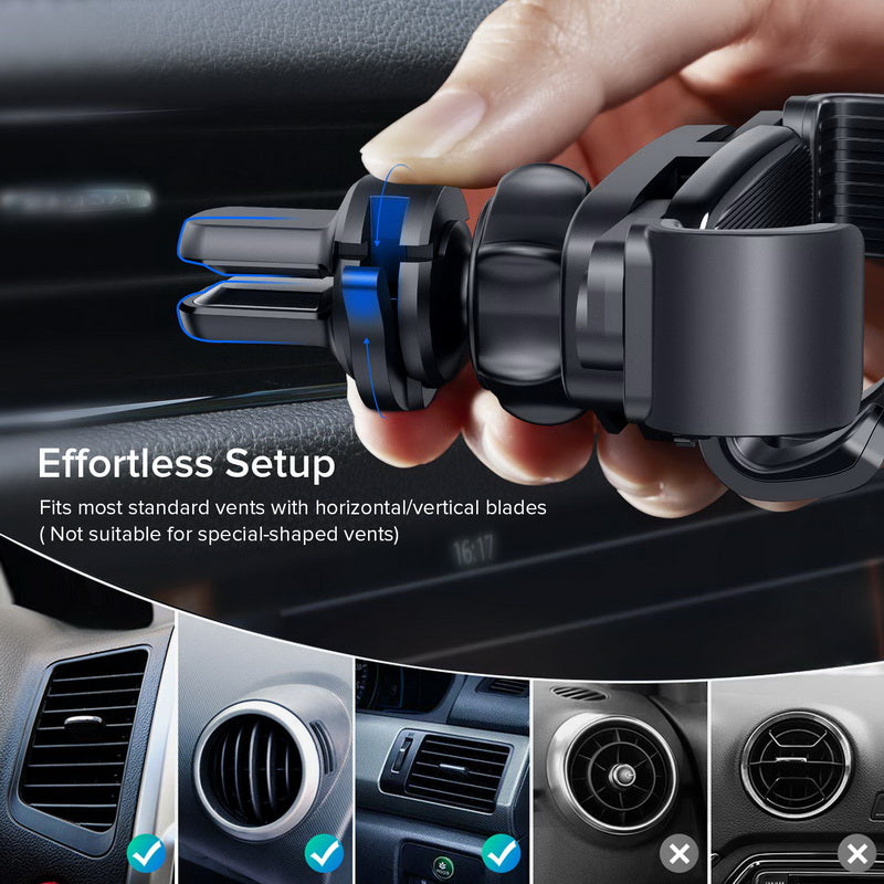 INIU Gravity Car Holder For Phone in Car Air Vent Clip Mount No Magnetic Mobile Cell Phone Holder Stand For iPhone Xiaomi Huawei - Coeexus