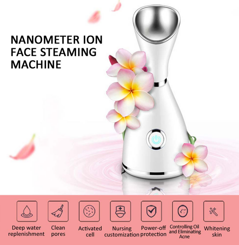 Beauty Facial Treatment Kits Face Clean Pore Vacuum Acne Pimple Removal Blackhead-Facial Steamer-Rechargeable Facial Cleansing Brushes Silicone-Acne Tool - Coeexus