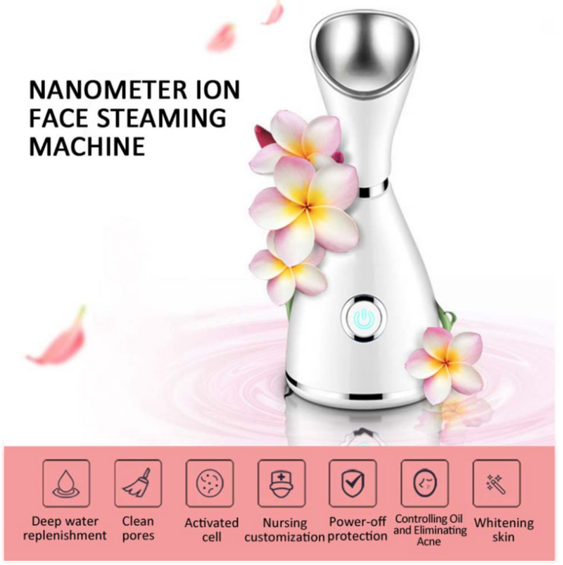 Nano Ionic Deep Cleaning Facial Cleaner Facial Hot Steamer Face Sprayer Beauty Face Steaming Device Facial Steamer Machine - Coeexus