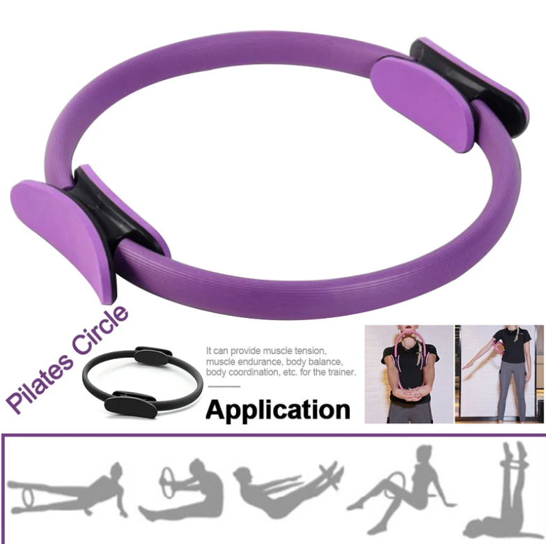 9 in one Kit Yoga Pilates  Magic Ring Pedal Exerciser Sit-up Pull Rope 5 Latex Colors Resistance Rubber Bands Hair Band