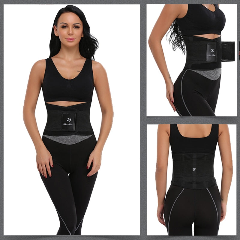 Sweat Waist Trainer Body Shape Shaper Xtreme Power Modeling Belt Faja Girdle Tummy Slimming Fitness Corset Shapewear - Coeexus