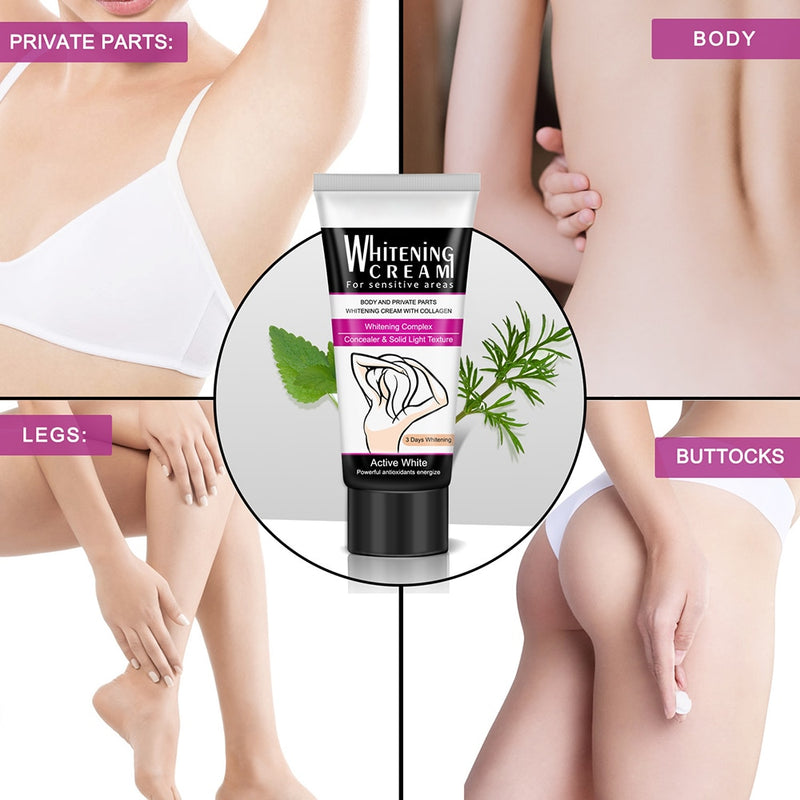 Body Whitening Cream Underarm Legs Bleaching Cream Dark Skin Natural Whitening Deodorant Cream for Skin Lightening Skin Care - Coeexus