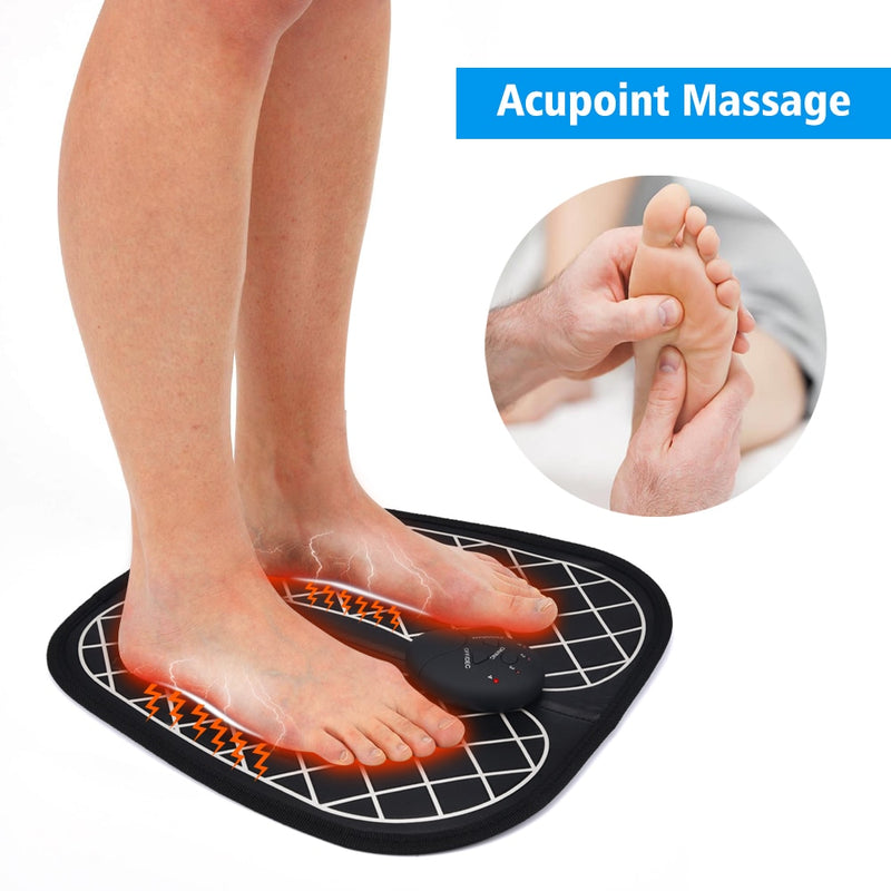 ABS Physiotherapy Electric EMS Foot Massager Revitalizing Pedicure Tens Foot Vibrator Wireless Feet Muscle Stimulator Unisex - Coeexus