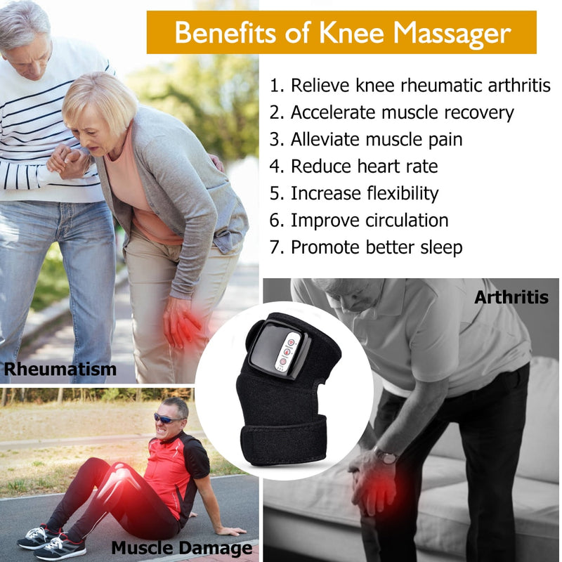 Knee Joint Physiotherapy Massager Quick Effect Electric Heating Massager Pain Relief Rehabilitation Health Care Tool Gift - Coeexus