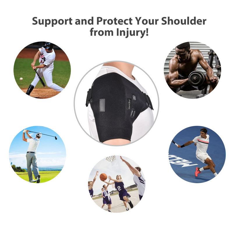 Heat Therapy Hot Adjustable Shoulder Heating Pad for Frozen Shoulder Bursitis Tendinitis Shoulder Brace Tool - Coeexus