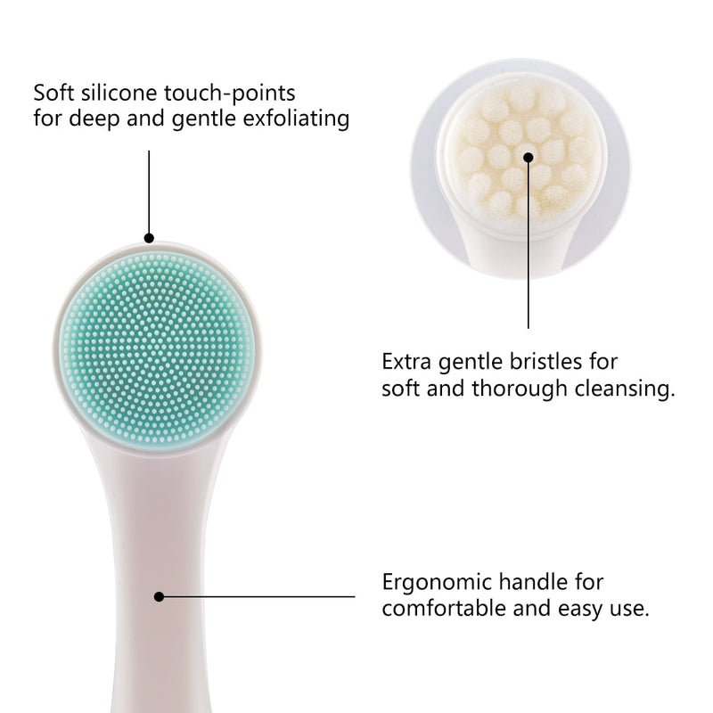 3D Double Sides Facial Cleaning Brush Multifunctional Portable Face Cleanser Face Massage Washing Product Face Skin Care Tools - Coeexus