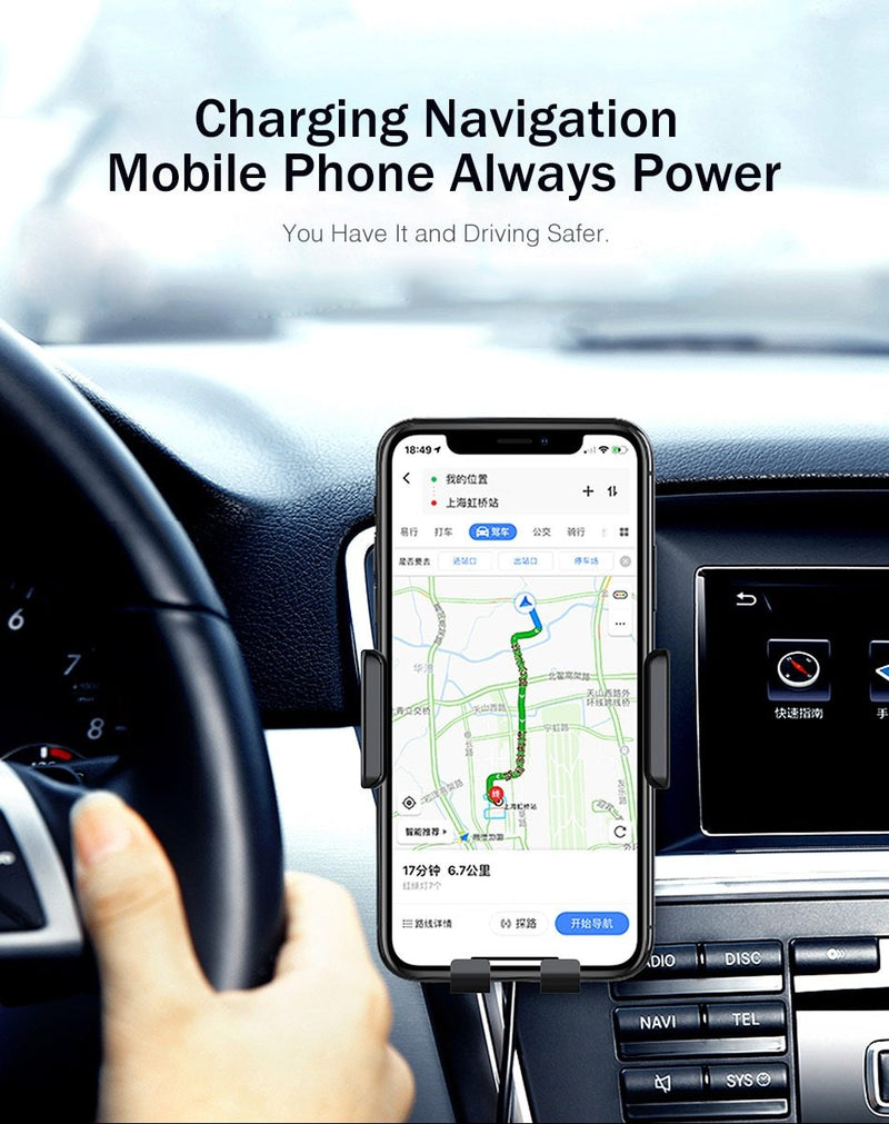Qi Wireless Car Charger for iPhone XS Max Samsung - Coeexus