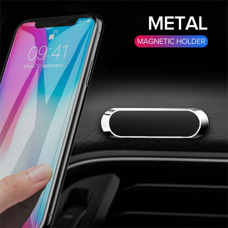 Universal Magnetic Car Phone Holder Mini Metal Mobile Phone Stand For iPhone 11 Pro MAX Xiaomi Samsung Magnet GPS Stand - Coeexus