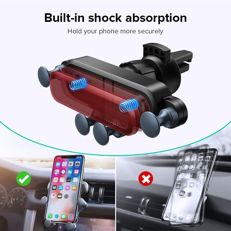 Gravity Car Holder For Phone in Car Air Vent Clip Mount No Magnetic Mobile Phone Holder GPS Stand For iPhone 11 Pro Samsung - Coeexus