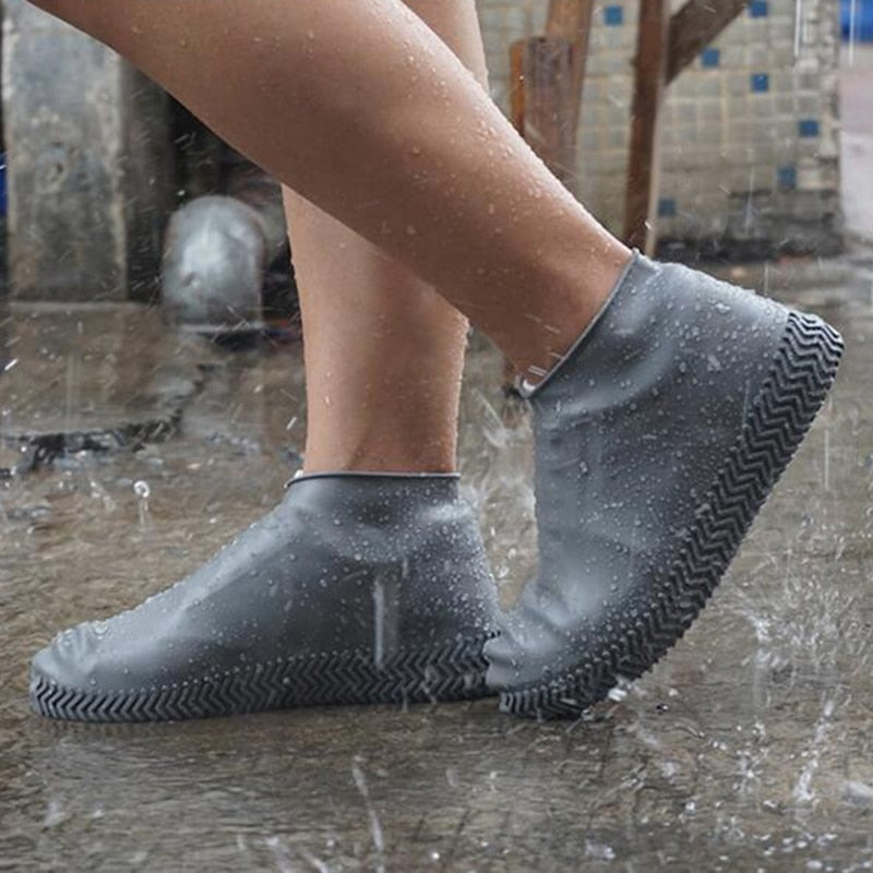 Waterproof Shoe Cover Latex Material Unisex Shoes Protectors Rain Boots for Indoor Outdoor Rainy Days 1 Pair - Coeexus