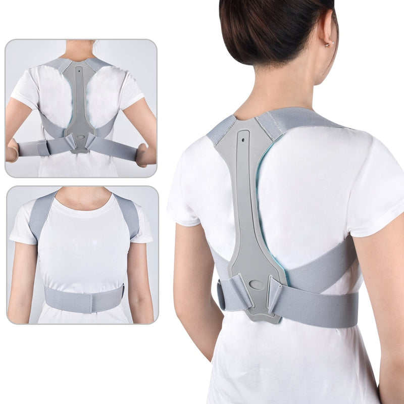 Back Posture Corrector New Clavicle Spine Back Shoulder Lumbar Adjustable Brace Support Belt Posture Correction for Men Women - Coeexus
