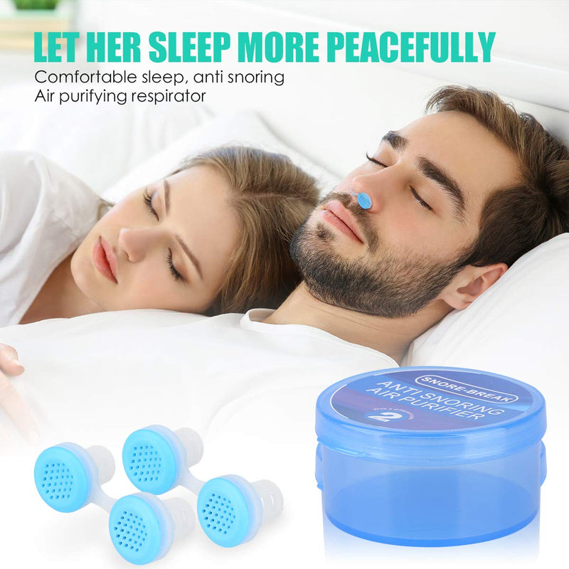 COEEXUS 8PCS /set  Snoring Solution Anti Snoring Devices Professional Snore Stopper Nose Vents Snore Nasal Dilators For Better Sleep - Coeexus
