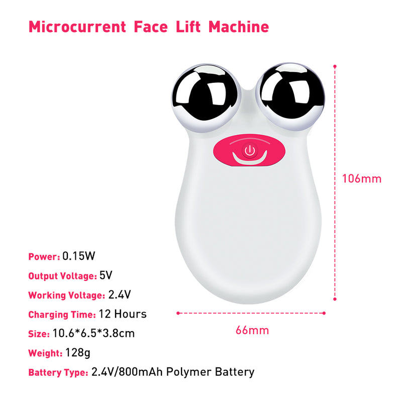 Mini Microcurrent Face Lift Machine Multifunction Beauty Device Skin Tightening Facial Wrinkle Blackhead Remover Skin Care Tools - Coeexus