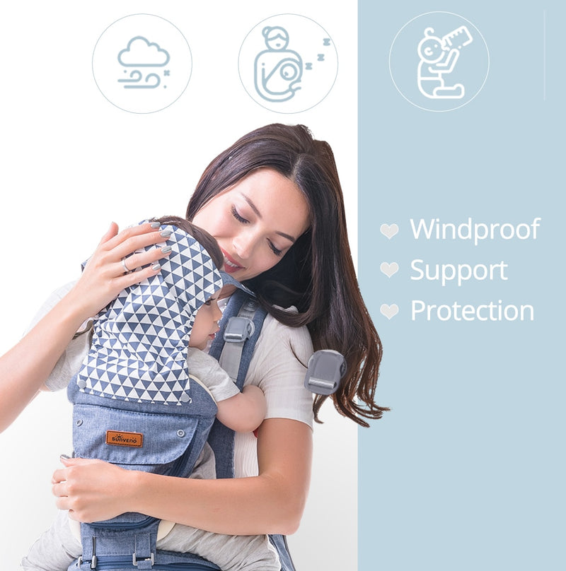 Ergonomic Baby Carrier Infant Baby Hipseat Waist Carrier Front Facing Ergonomic Kangaroo Sling for Baby Travel 0-36M - Coeexus