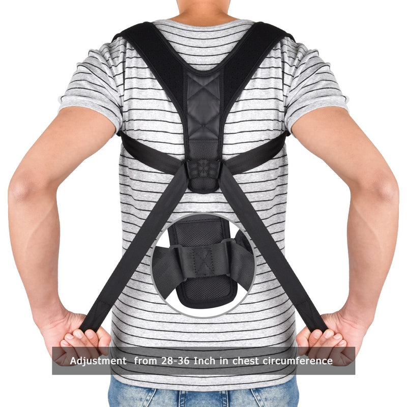 Back Care Posture Corrector Clavicle Brace Shoulder Support Adjustable Strap Improve Sit Walk Prevent Slouching for Adult - Coeexus