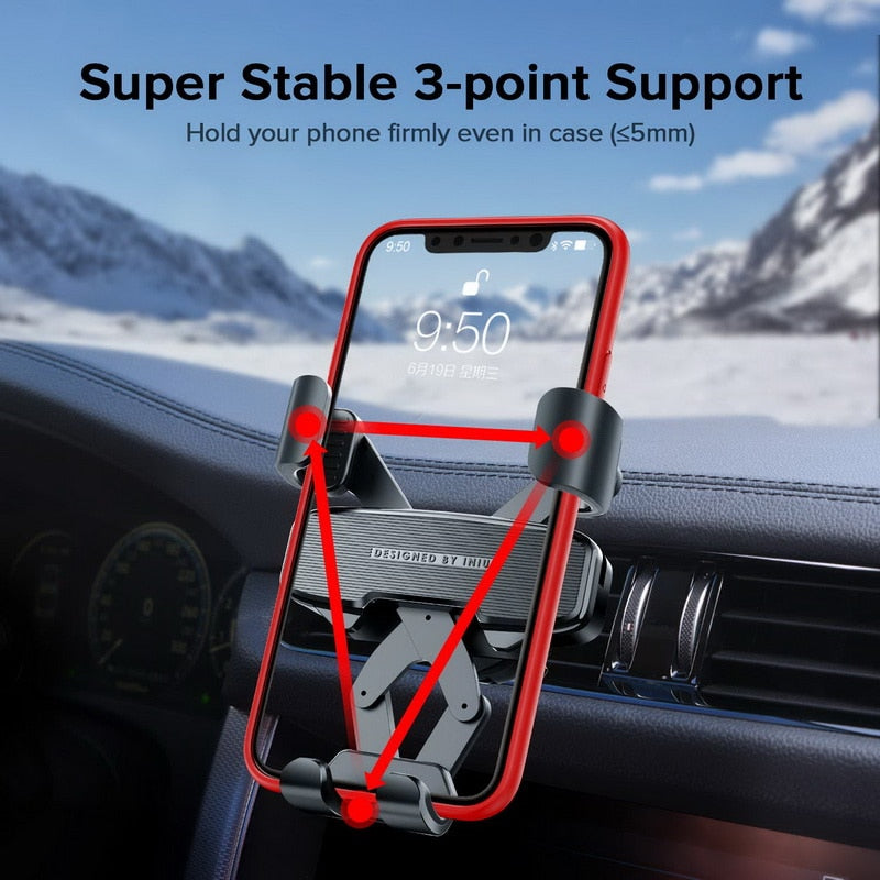 Gravity Car Holder For Phone in Car Air Vent Mount No Magnetic Mobile Cell Phone Holder GPS Stand For iPhone Xiaomi Samsung - Coeexus