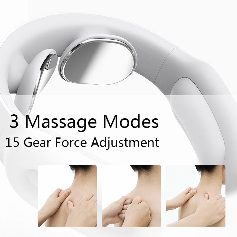 Smart Electric Neck and Shoulder Massager Pain Relief Tool Health Care Relaxation Cervical Vertebra Physiotherapy - Coeexus