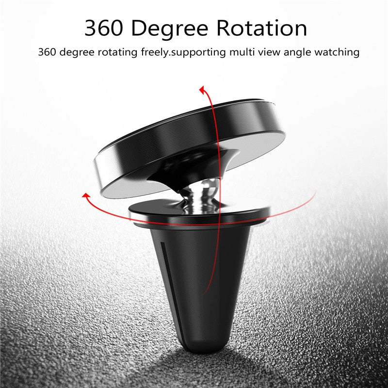 Magnetic Car Phone Holder,USLION 360 Magnet Car Phone Holder Stand Support for iPhone X 8 7 6 Galaxy S9 Magnet Mount Car Holder - Coeexus
