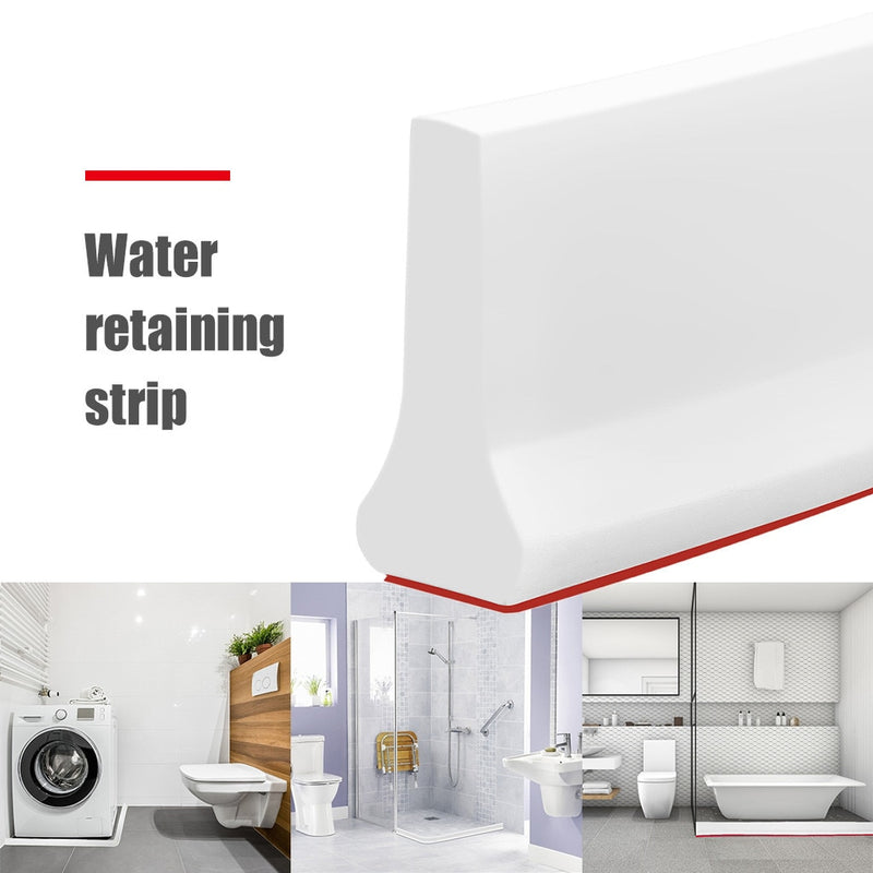 2m Bathroom Water Stopper Flood Barrier Rubber Dam Silicone Water Blocker Water Barrier Floor Partition Strips Dropshiping