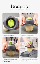 Mandoline Vegetable Fruit Slicer Grater Cutter Peeler Multifunctional Potato Peeler Carrot Grater Drain Basket Kitchen Tool - Coeexus