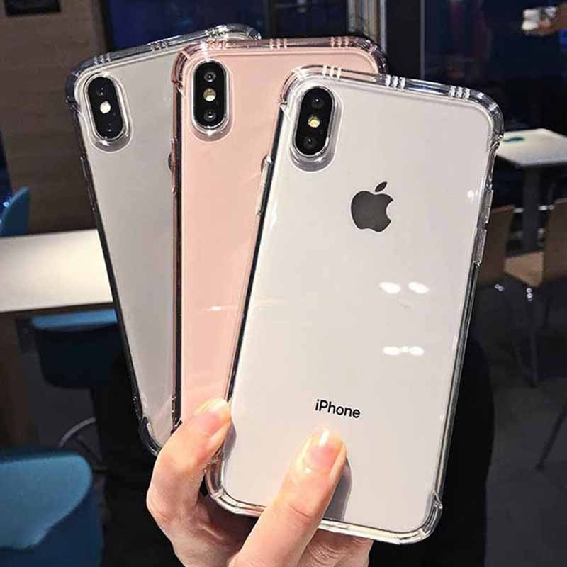 Shockproof Clear Phone Case for iPhone Xr Xs Max X 6 6S 7 8 Plus Soft TPU Transparent Phone Case for iPhone Xr Xs Max 6 7 8 Plus - Coeexus