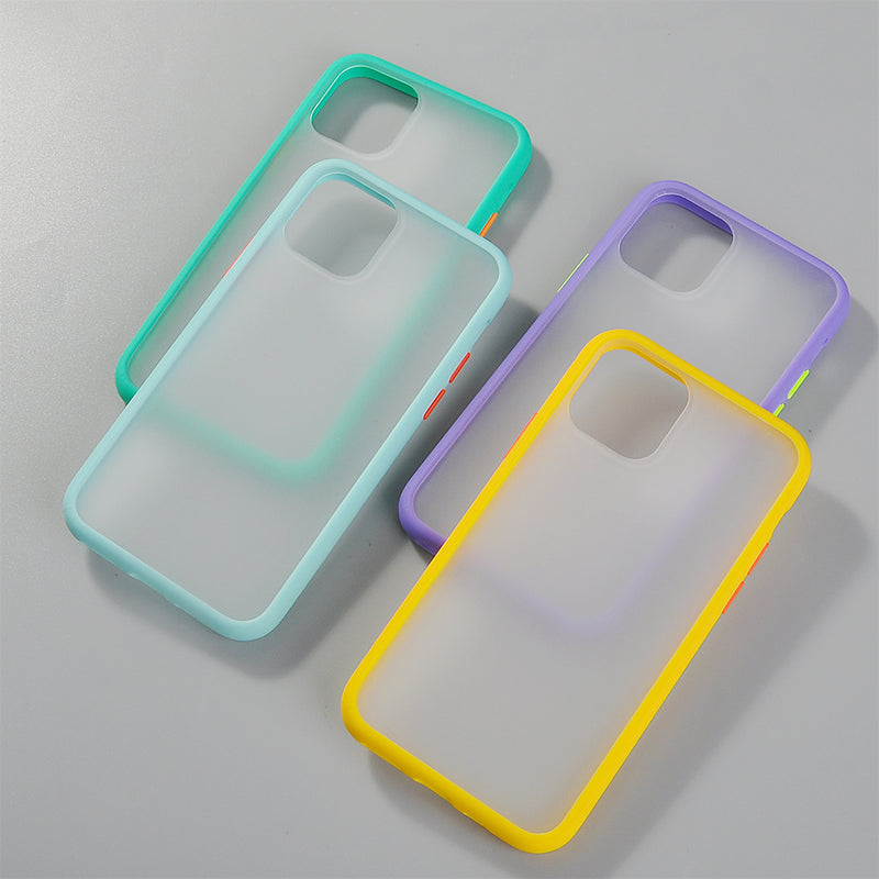 Hybrid Simple Matte Bumper Phone Case for Iphone 11 Pro Max Xr Xs Max 6s 8 7 Plus Shockproof Soft Tpu Silicone Clear armor Cover - Coeexus