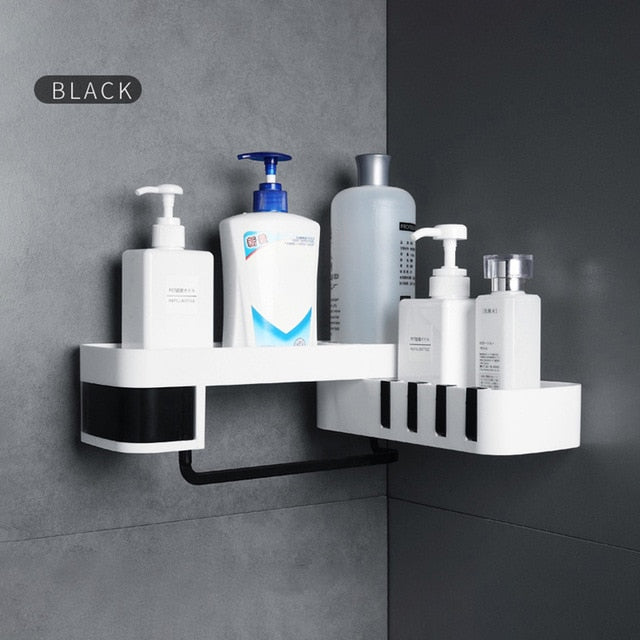 Corner Shower Shelf Bathroom Shampoo Shower Shelf Holder Kitchen Storage Rack Organizer Wall Mounted Bathroom Accessories - Coeexus