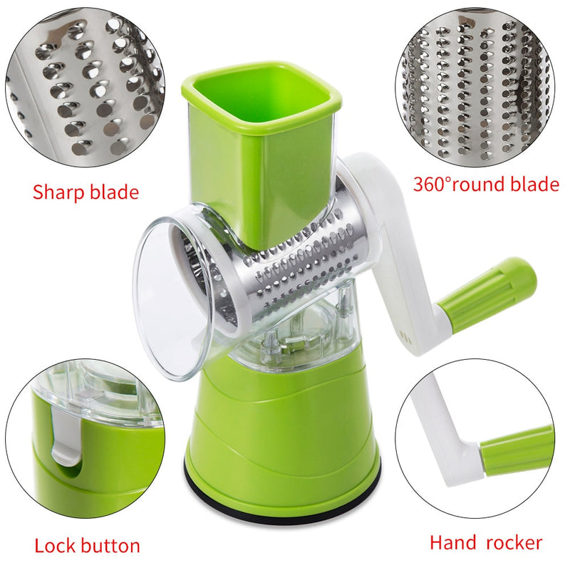Multifunctional Vegetable Grater Mandoline Fruit Cutter Carrot Cheese Slicer Potato Peeler Kitchen Tools Vegetable Cutter - Coeexus