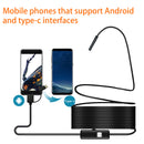 1m 2M 1.5m Wire Mini Endoscope Camera 5.5mm Lens for Android Type-C/USB Borescopes Waterproof Led Lighting Inspection Camera - Coeexus