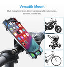 Silicone Bike Phone Holder Bicycle Mobile Cell Phone Holder Motorcycle GPS Suporte Celular Bike For iPhone Samsung Xiaomi - Coeexus