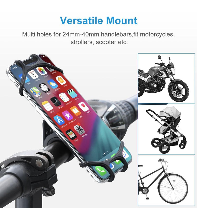 Bicycle Phone Holder for IPhone 8 XS Max Samsung Xiaomi 9 Universal Motorcycle Mobile Phone Holder Bike Handlebar Stand Bracket - Coeexus