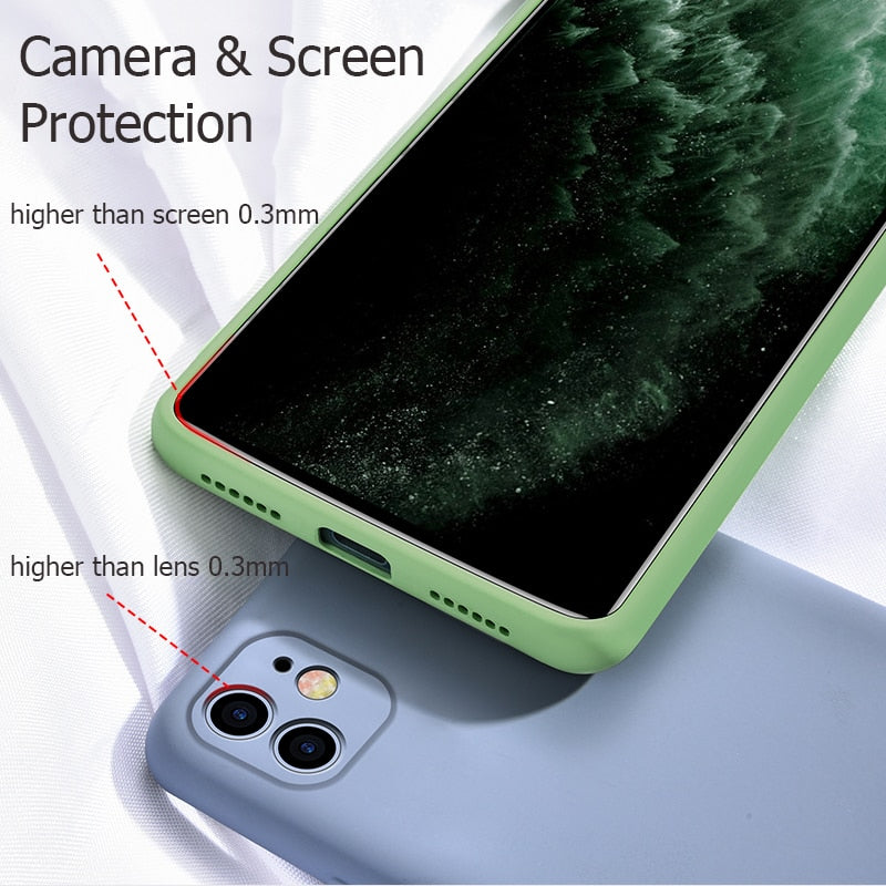For iPhone 11 Case Liquid Silicone Matte Soft Cover For Apple iPhone 11 Pro Max Flexible Shockproof Phone Case Midnight Green - Coeexus