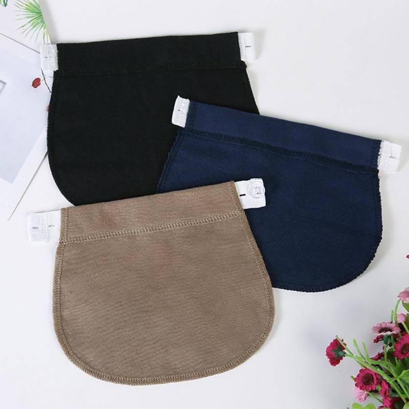 Maternity Pregnancy Waistband Belt Soft Adjustable Elastic Pants Lengthening Waist Extenders Button Mother Loose Pants Belt - Coeexus