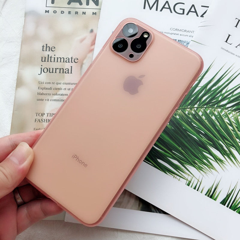 Ultra Thin Matte Transparent PP Phone cases For iPhone 6 6S 7 8 Plus XR X XS 11 Pro Max Case Cover Luxury 0.3mm Phone Bag - Coeexus