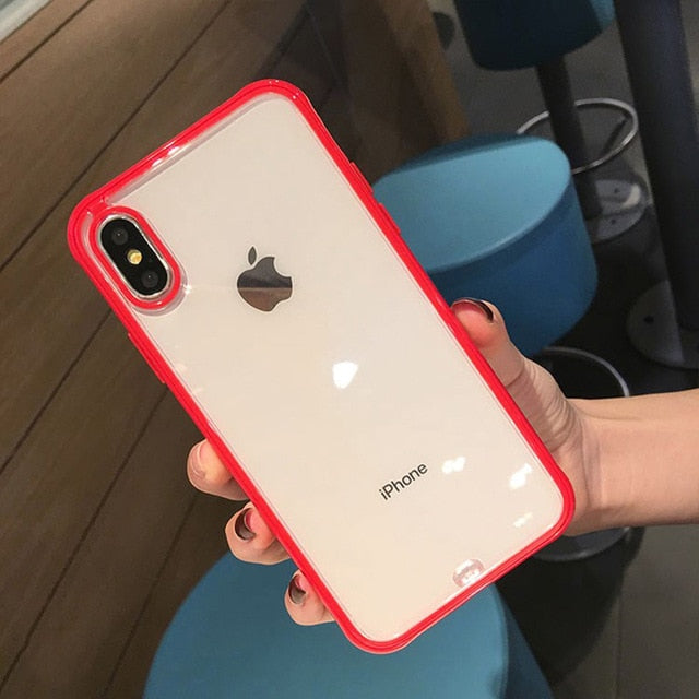 Shockproof Bumper Transparent Silicone Phone Case For iPhone 11 2019 X XS XR XS Max 8 7 6 6S Plus Clear protection Back Cover - Coeexus