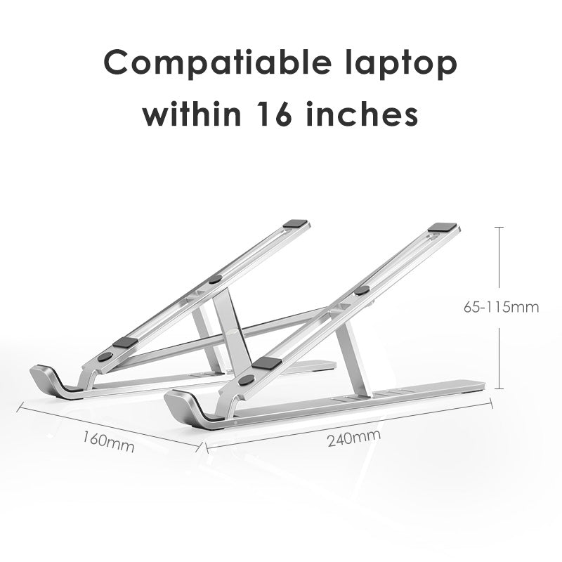 Laptop Holder for MacBook Pro Notebook Foldable Aluminium Alloy Laptop Stand Bracket Laptop Holder for PC Notebook - Coeexus