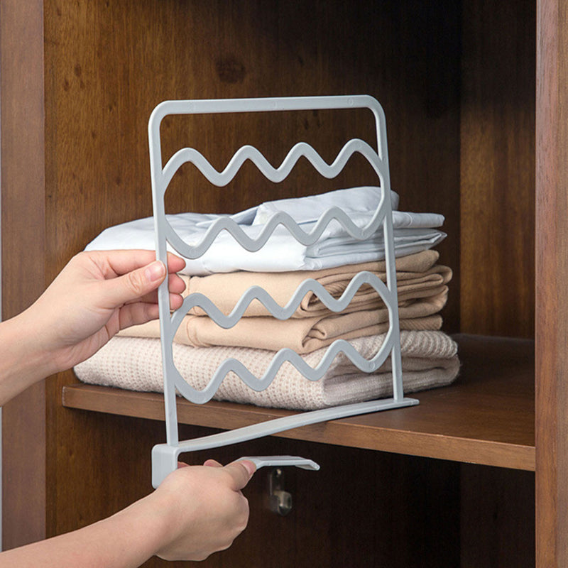 Closet Shelf Dividers Wardrobe Partition Shelves Divider Clothes Wire Shelving Storage Organizer High Quality Home Decor